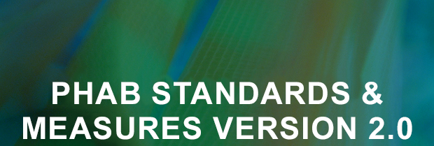 "phab graphic title ""phab standards & measures version 2.0"""